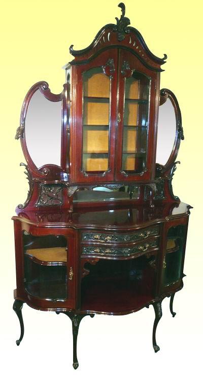 Superb Victorian Mahogany Antique Cabinet Chiffioneer