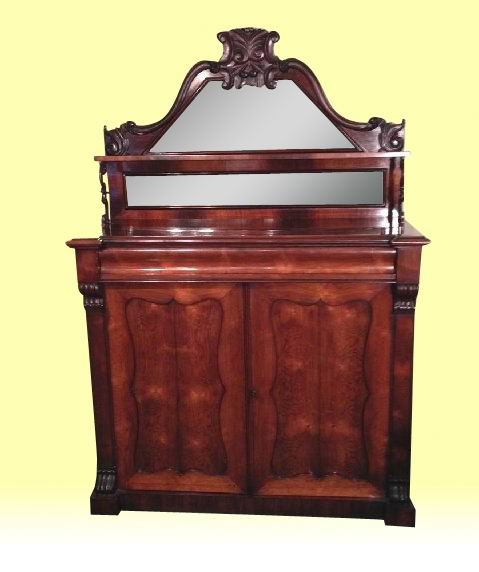 A Lovely Useful 19th Century Antique Rosewood Chiffonier Sideboard
