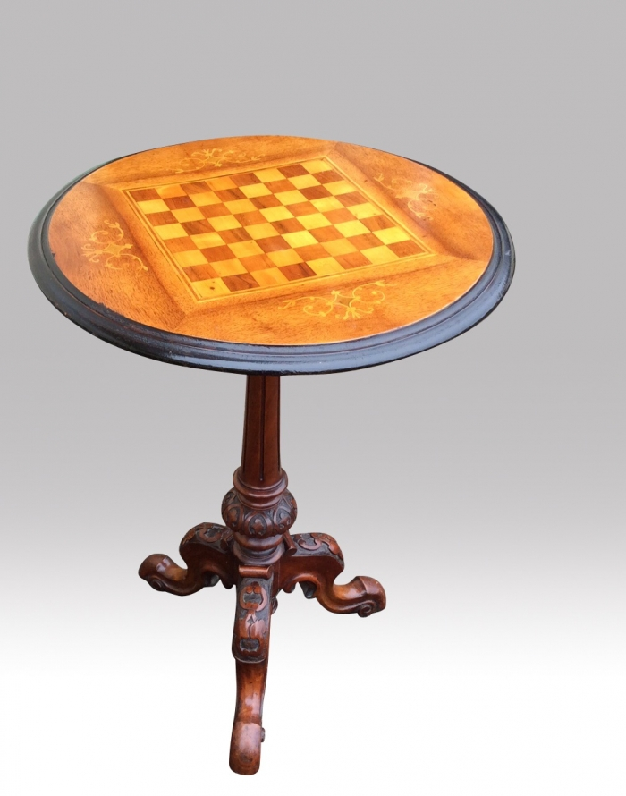 Antique Games Chess Table