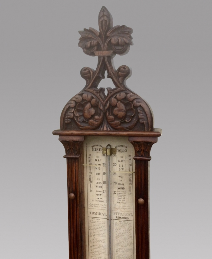 Fabulous Large Antique Admiral Fitzroy Barometer