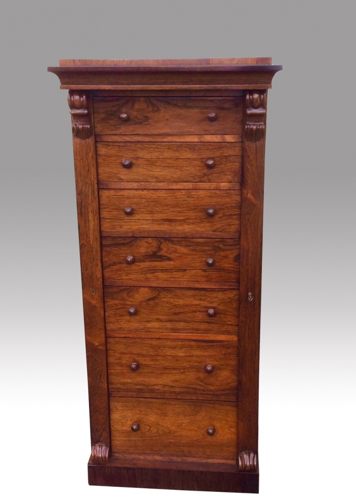 Magnificent Antique Rosewood Wellington Chest