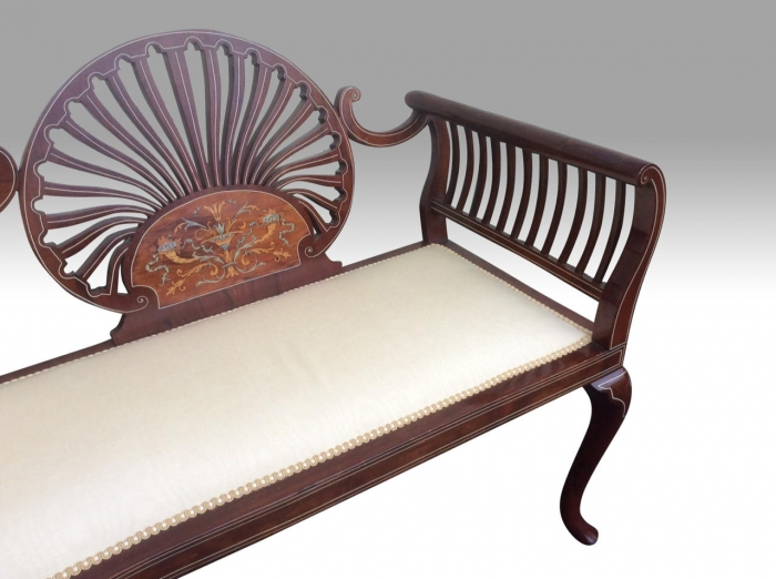 Fantastic Quality Inlaid Mahogany Antique Settee