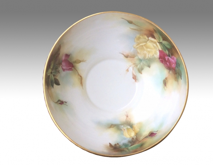Beautiful Antique Royal Worcester Hand Painted Bowl