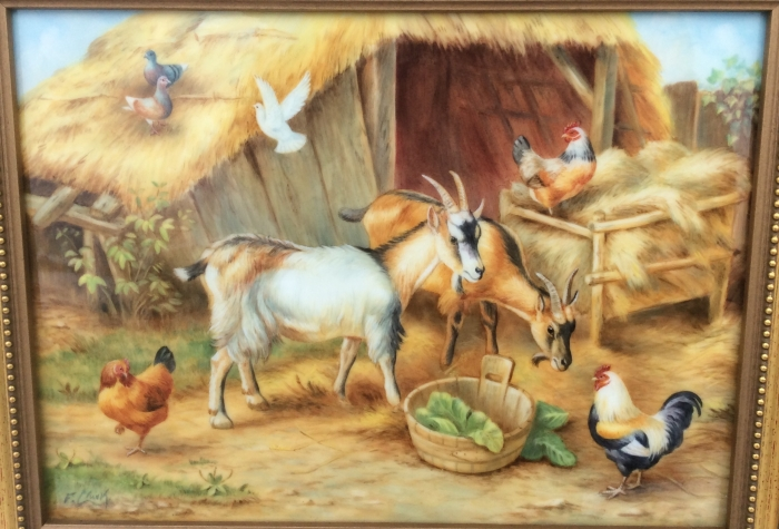 Stunning Oil Painting on Porcelain by Royal Worcester artist F Clark.