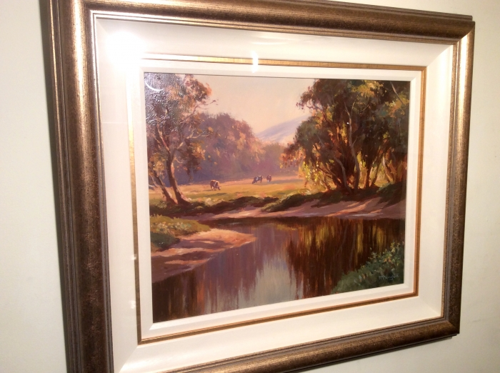Framed Irish Painting by Donal McNaughton  (The Glens of Antrim)