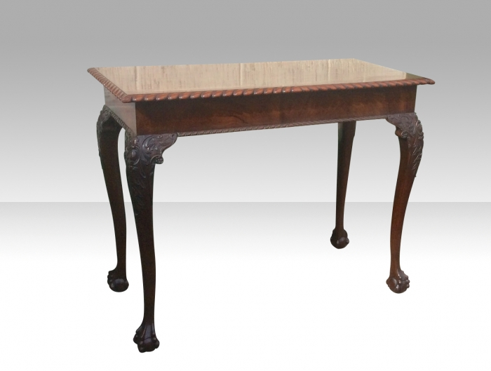 Quality Irish Chippendale Design Mahogany Hall Table/Window Table stamped James Hicks Dublin