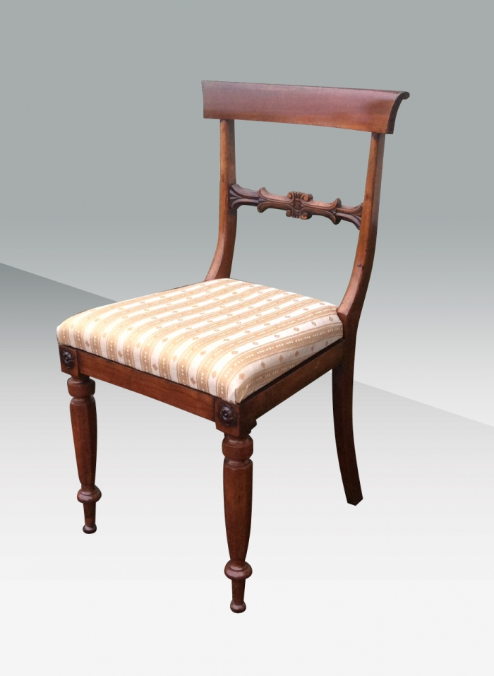 Quality Set Of Six Antique Period Regency Rosewood Dining Chairs