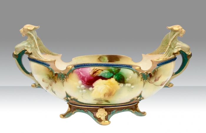 Magnificent Large Antique Royal Worcester Centrepiece Vase