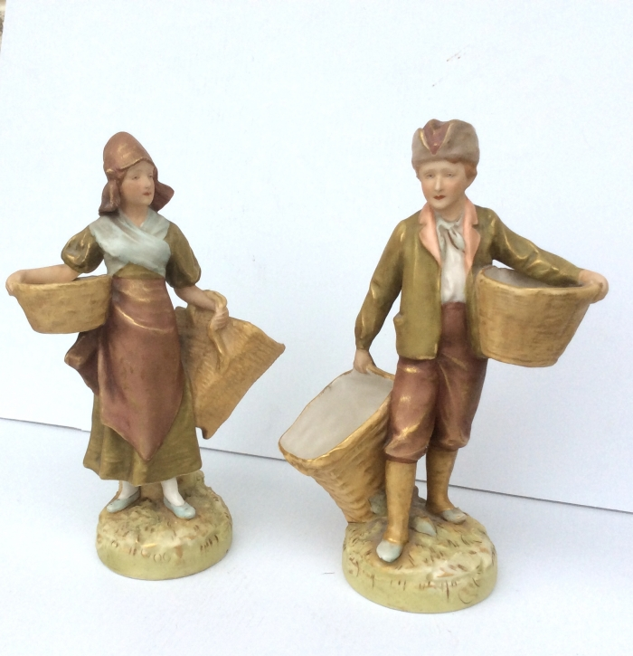 Pair of Royal Dux Figurines