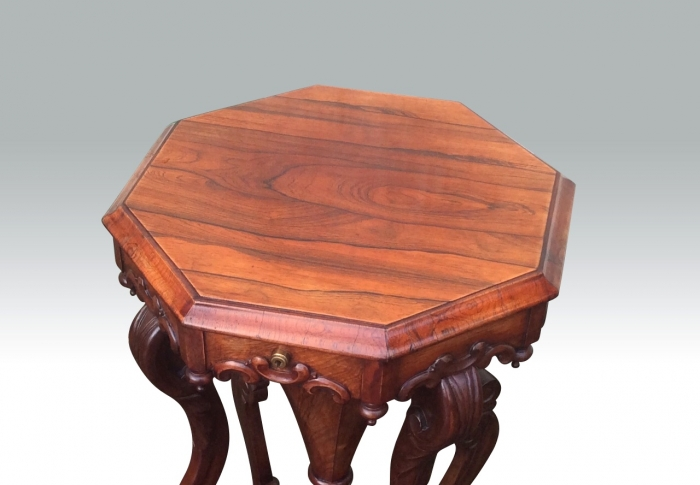 Beautiful Antique Rosewood Victorian Sewing Table