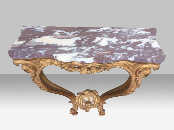 Quality Carved Antique Gilt Wood Console Table
