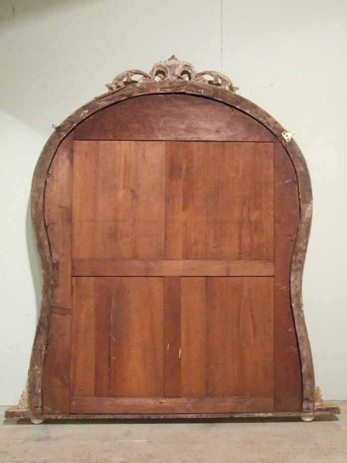 Quality Large English Antique Gilt Overmantle Mirror