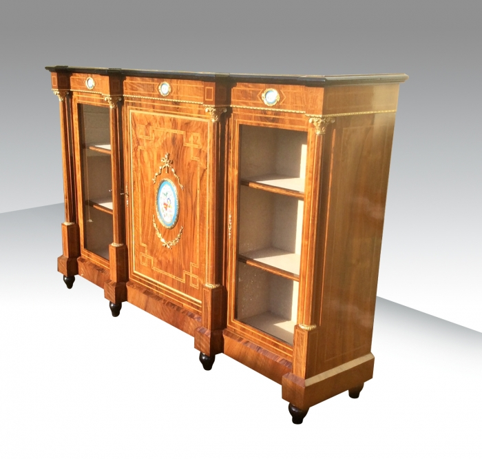 Magnificent Antique Walnut Credenza,Sideboard
