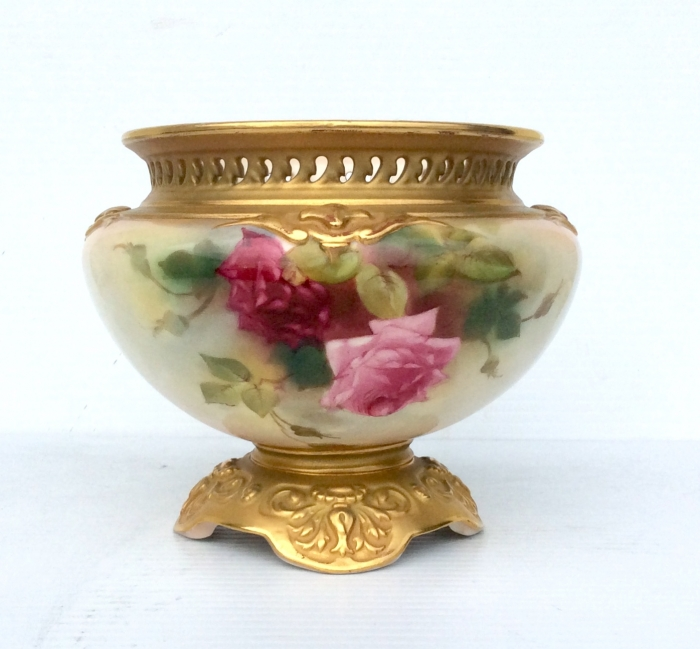 Antique Royal Worcester Jardinere Vase