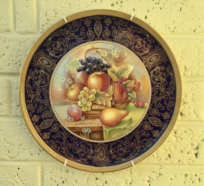 Royal Worcester Fruit Painted limited edition charger plate.