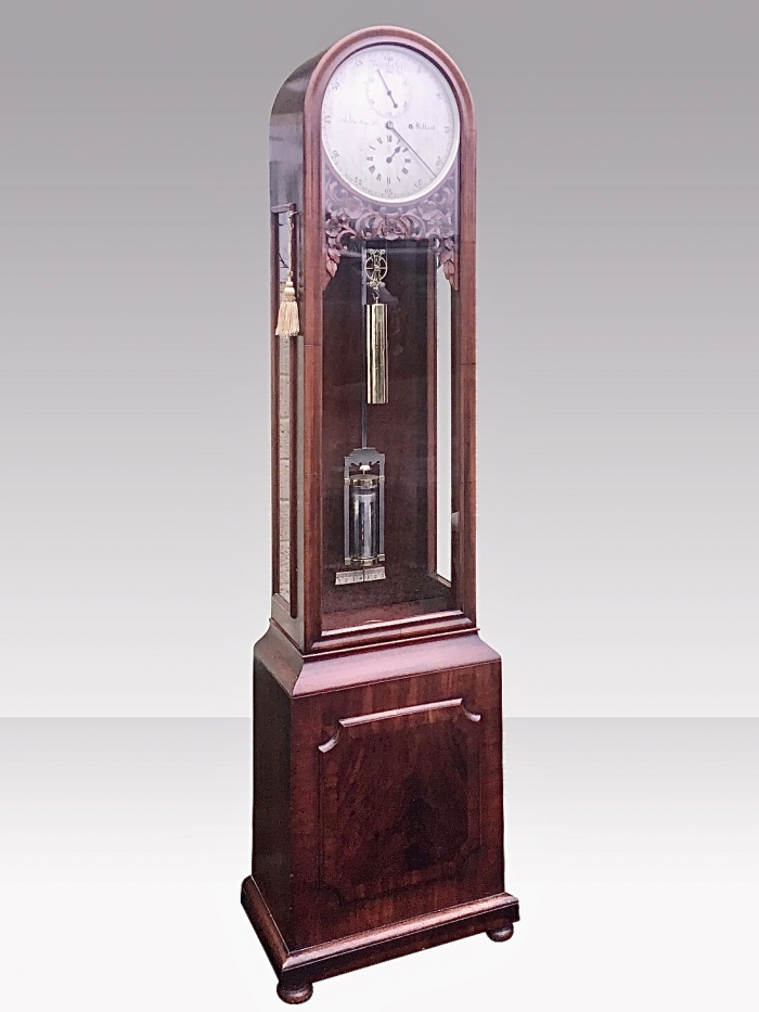 Antique Regulator Longcase Clock.