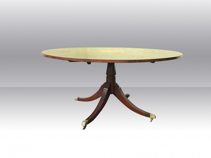 Large Antique Design Circular Inlaid Mahogany Veneered Dining, Breakfast,Hall Table.