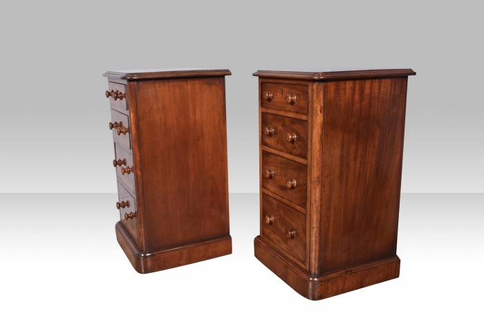 Pair of antique bedside cabinets,chests