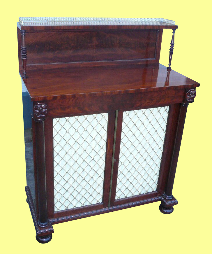 Quality Regency Antique Mahogany Chiffioneer Side Cabinet