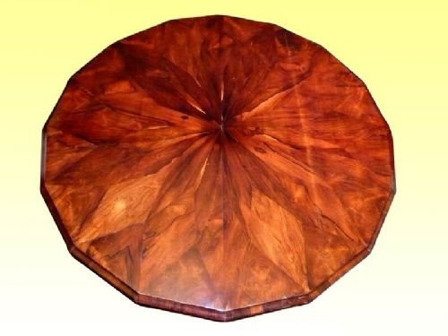 19th Century Segmented Rosewood 16 Sided Antique Center Table