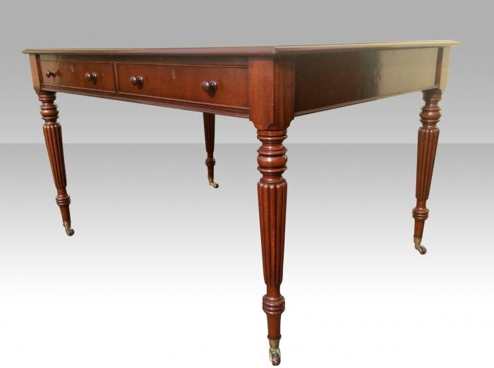 FINE Quality Early Victorian Mahogany Antique Libary Table Partners Desk