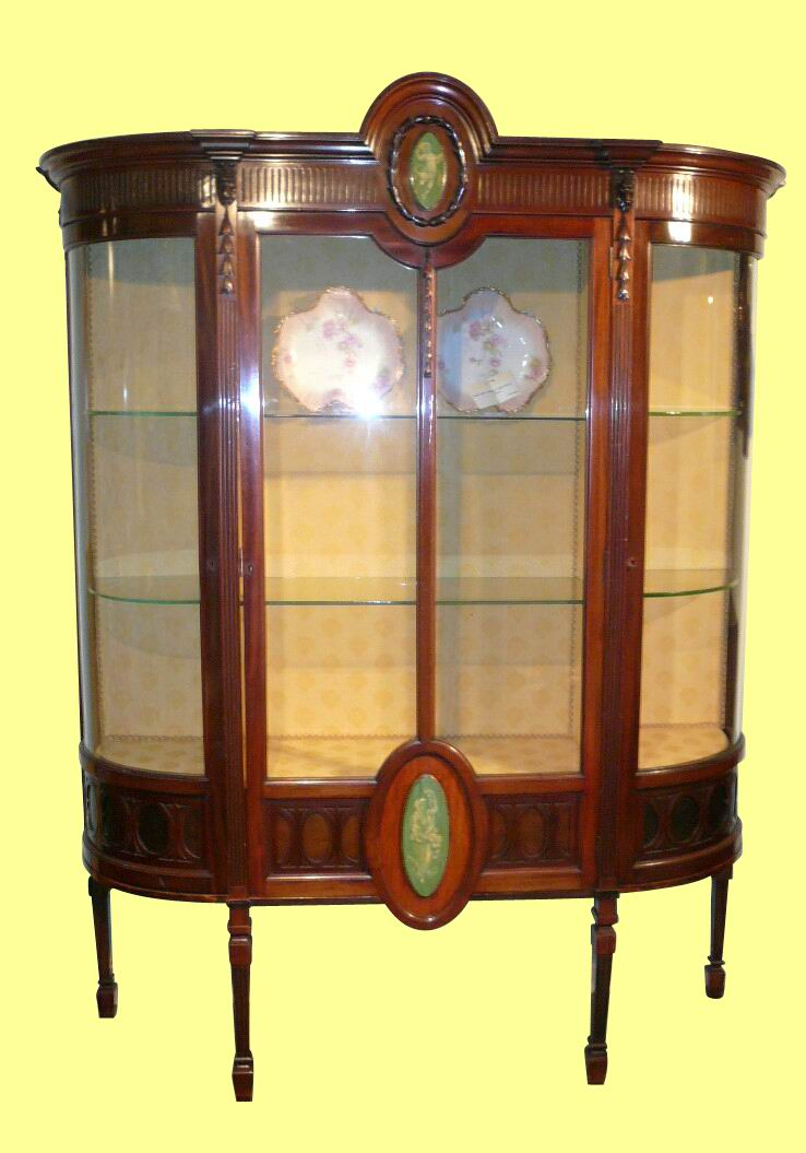 Superb Quality Mahogany Antique Display Cabinet