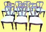 Super Set Of Ten Victorian Mahogany Antique Dining Chairs - Click to Enlarge