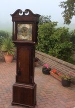 Brass face Georgian Oak Antique  Longcase (J Woolfenden, Royton) - Click to Enlarge