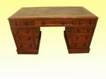 Victorian Mahogany Antique Pedestal Desk - Click to Enlarge