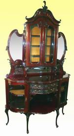 Superb Victorian Mahogany Antique Cabinet Chiffioneer - Click to Enlarge