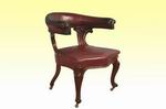 Quality Victorian Mahogany Upholstered Antique Desk Library Chair - Click to Enlarge