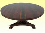Superb William IV Circular Rosewood Table - Click to Enlarge