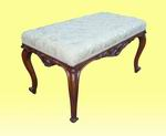 Quality Victorian Walnut Upholstered Stool - Click to Enlarge