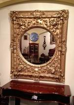Fabulous Large Antique Rococo Gilt Mirror - Click to Enlarge