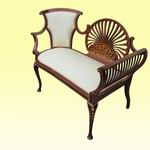 Fantastic Quality Inlaid Mahogany Antique Settee of Small Porportions - Click to Enlarge