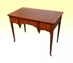 Supeb Small Marquetry Inlaid Rosewood Antique Desk  - Click to Enlarge