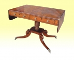 Superb Inlaid Mahogany Regency Antique Sofa Table - Click to Enlarge