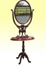 Early Victorian Mahogany Antique  Cheval Mirror - Click to Enlarge