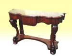 Lovely Victorian Mahogany Narrow Antique Hall Consul  Table With Drawer - Click to Enlarge