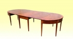 Fabulous Period Georgian Inlaid Mahogany Antique  Irish Dining Table - Click to Enlarge
