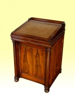A Wonderful Antique Rose Wood Gillows Design Sliding Top Davenport Desk - Click to Enlarge