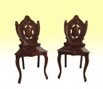 Superb Pair Of Quality Mahogany Antique Victorian Hall Coaching Chairs - Click to Enlarge