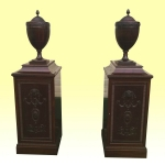 Pair Of Magnificant Antique Adam Design Pedestal Cabinets - Click to Enlarge