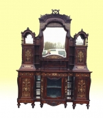 A Magnificent Large Antique Rosewood Chiffioneer Display Cabinet - Click to Enlarge
