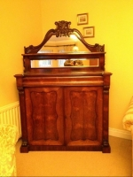 A Lovely Useful 19th Century Antique Rosewood Chiffonier Sideboard  - Click to Enlarge