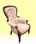 Large Antique Victorian Mahogany Spoon Back Chair - Click to Enlarge