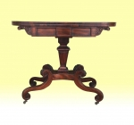 Fabulous Quality Mahogany Antique Regency Turn Over Leaf Tea Table - Click to Enlarge