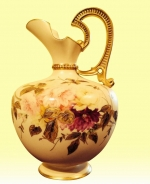 A Beautiful Large Antique Royal Worcester Ewer - Click to Enlarge