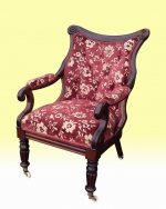Quality Antique Regency Rosewood Library Arm chair  - Click to Enlarge
