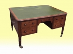 Period Antique Irish Regency Mahogany Partners Desk - Click to Enlarge